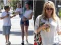 Reese Witherspoon bez makijażu z dziećmi