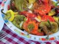 Pieczona papryka, przekąski, dania wegetariańskie, kuchnia bułgarska