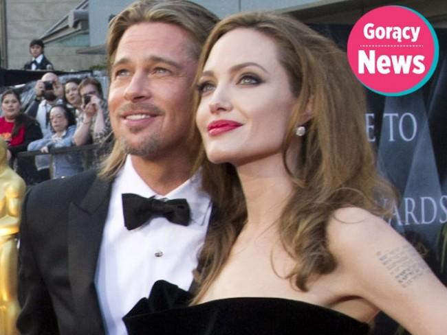 Angelina Jolie i Brad Pitt na rozdaniu Oscarów