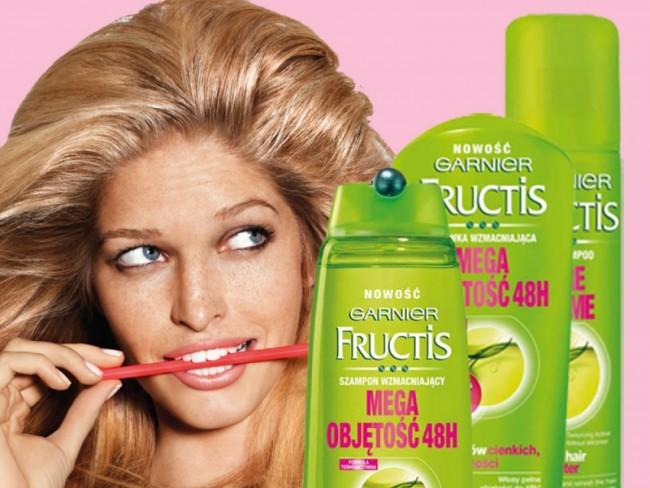 Fructis mega objętość 48h, szampon wzmacniający fructis
