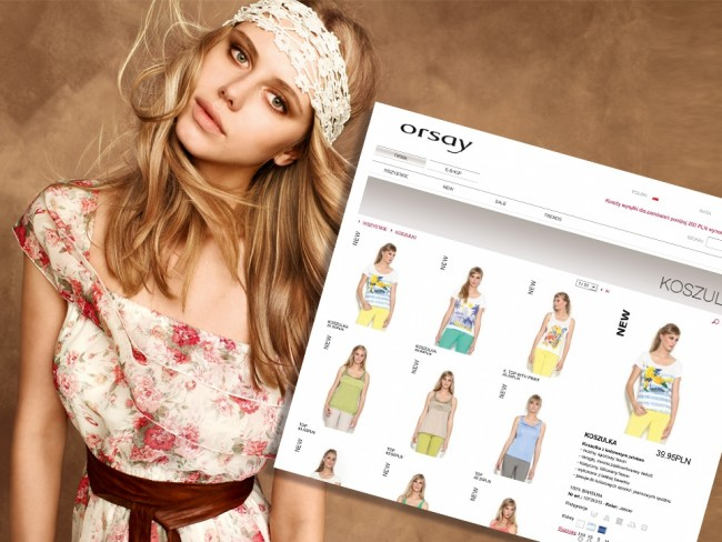 Orsay sklep internetowy online, e-shop