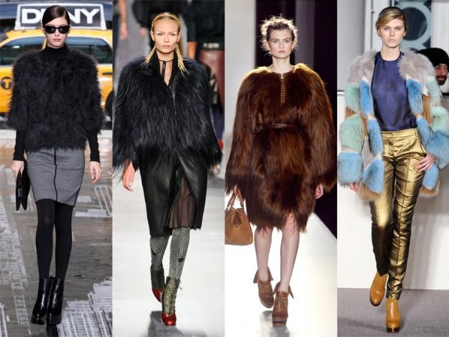 moda na jesień 2012 - futro