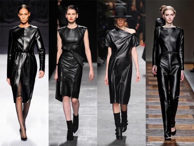 moda na jesień 2012 - skóra
