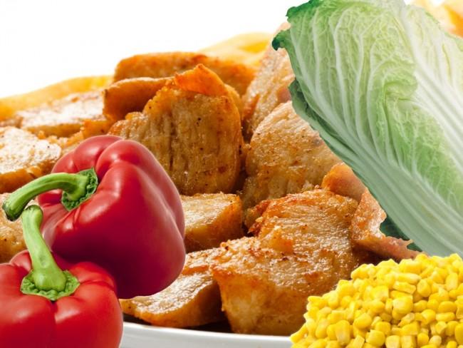 Przepis na sałatkę z kurczakiem gyros