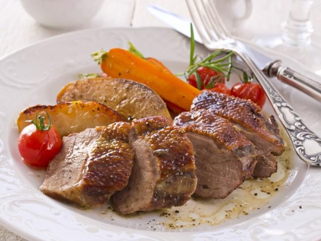pierś z gęsi, dania z gęsi, gęsina, gęś, danie główne, obiad