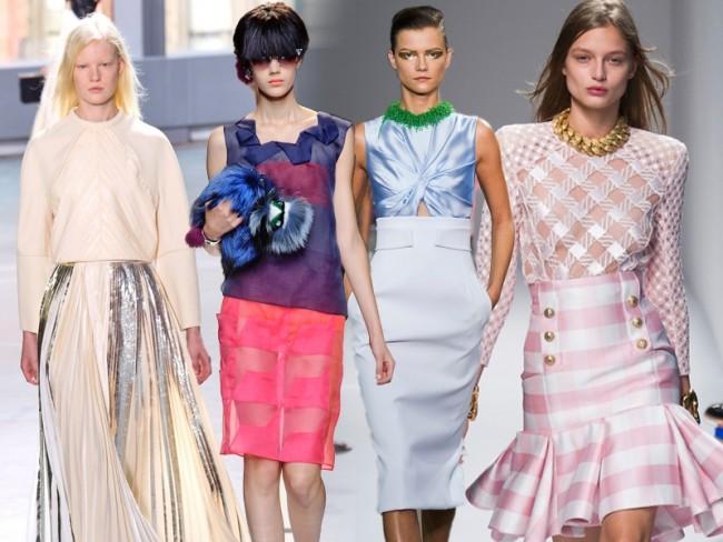 Modne spódnice 2014, trendy wiosna-lato 2014