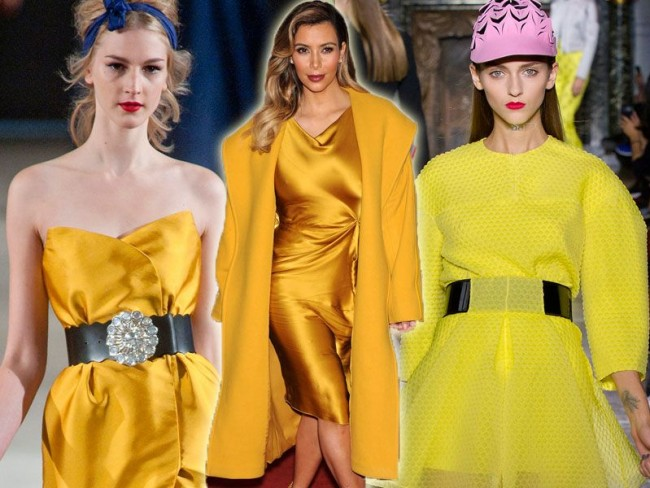 Kolor żółty - trendy wiosna 2014