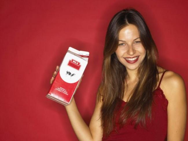 kobieta, mleko