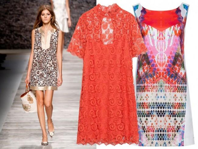 Modne sukienki wiosna-lato 2014, sukienki trapezowe