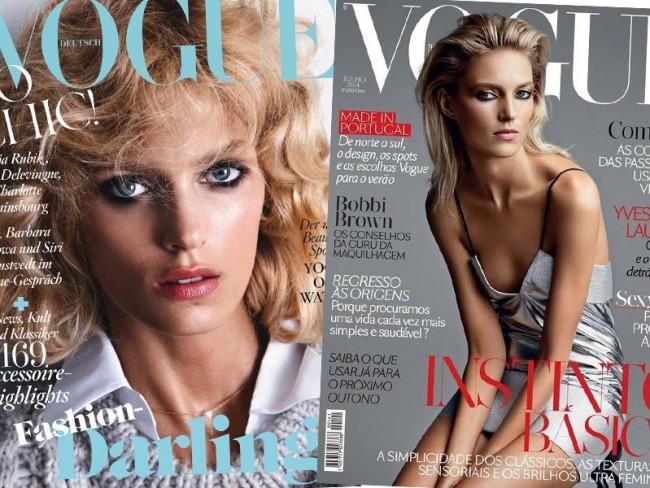 Anja Rubik dla Vogue