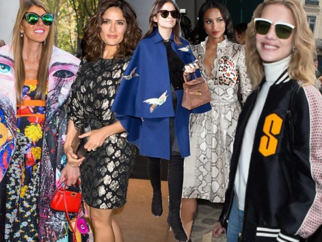 Gwiazdy na Paris Fashion Week