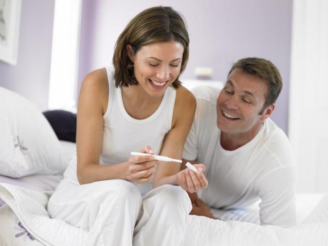 kobieta, mężczyzna, test ciążowy, ciąża