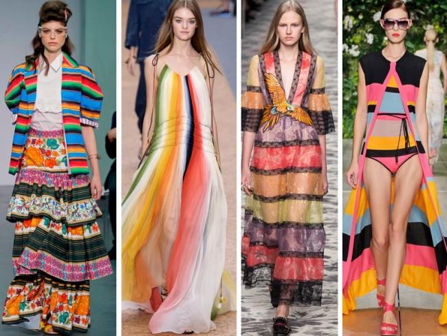 kolorowe paski - trendy wiosna 2016