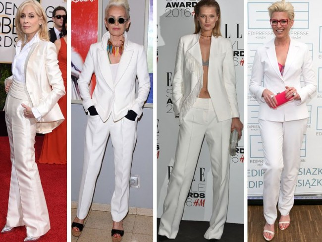 gwiazdy w białych garniturach