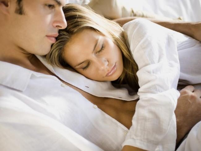 kobieta, mężczyzna, łóżko
