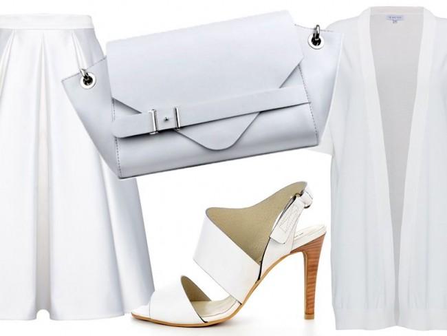 białe ubrania na wiosnę 2015