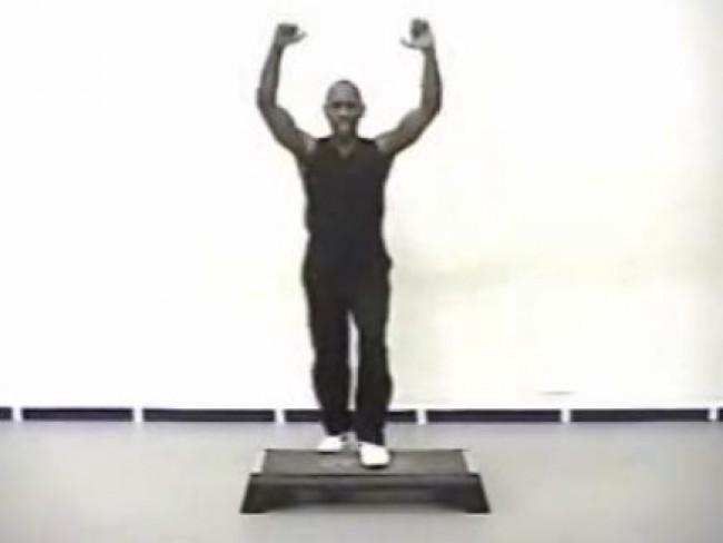 zestaw ćwiczeń, mężczyzna, video