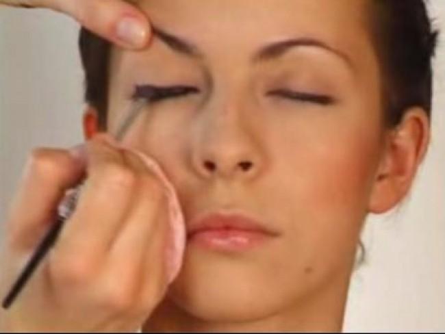 makijaż, kobieta, modelka