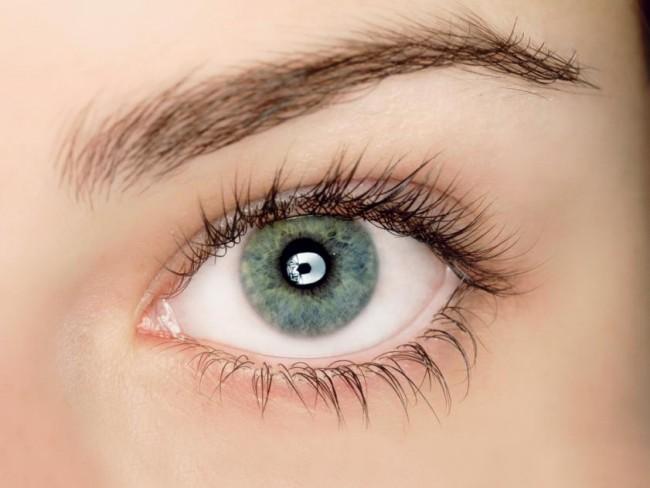 oko, oczy, makijaż, kobieta