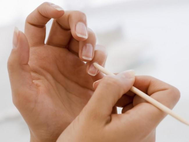 paznokcie, kobieta, manikiur