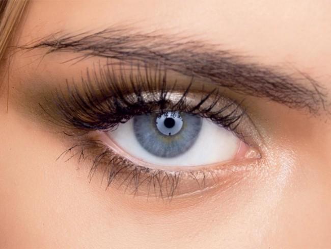 kobieta, oko, makijaż