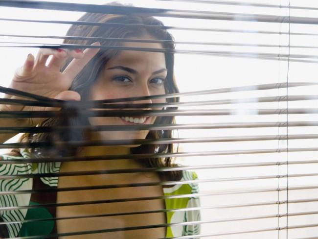 kobieta, okno