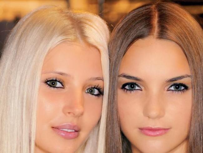 kobiety, modelki, makijaż, fryzury