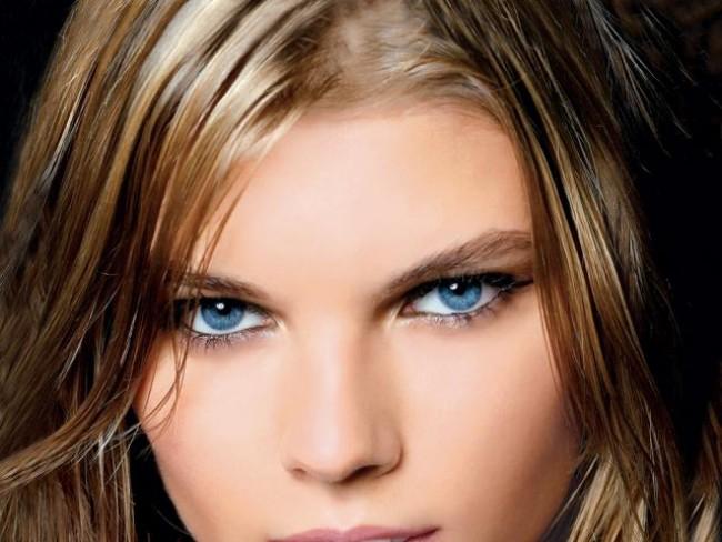 kobieta, modelka, makijaż, fryzury