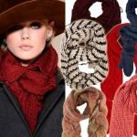 Przegląd ciepłych szalików na zimę 2012