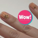 Sylwestrowy manicure z brokatem i diamencikami [video]