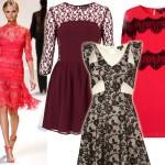Pomysł na walentynkową stylizację: koronkowa sukienka