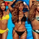 Seksowna Beyonce w kostiumach kąpielowych H&M