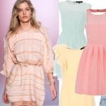 28 pastelowych sukienek na lato 2014