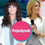 Ewa Farna i Małgorzata Rozenek w białych marynarkach