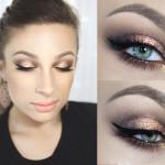 Wieczorowy makijaż dla małych oczu krok po kroku [video]