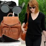 25-letnia Emma Stone w paryskim stylu na co dzień
