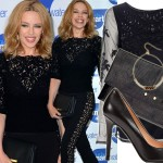 Seksowna czerń w wersji 46-letniej Kylie Minogue