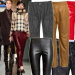 Skórzany efekt jest modny! Przegląd spodni na jesień i zimę