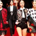 Stylowe torreadorki na wiosennym pokazie Dolce & Gabbana