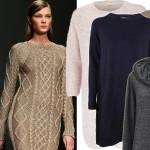 Swetrowe sukienki na jesienno-zimowe miesiące