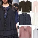 #ListaZakupów: stylowe bluzki z wiązaniem na dekolcie