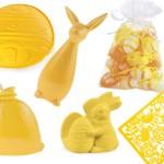 Żółte dodatki na Wielkanoc