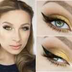 Wow! Złoty makijaż na wiosnę 2015