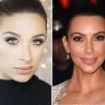 Piękny makijaż w stylu Kim Kardashian