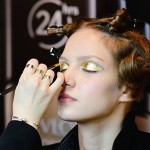 Najmodniejszy makijaż na wiosnę 2016 - #gold #makeup by Patrycja Dobrzeniecka