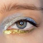 Błyszczący makijaż oczu