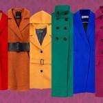 Kolorowe płaszcze - tęcza na jesień-zimę