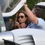 Angelina Jolie pobiera lekcje pilotażu