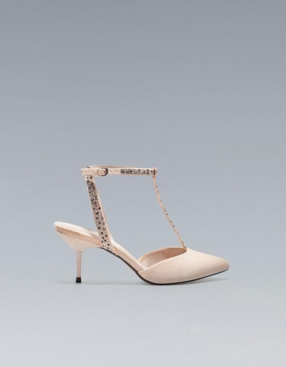 Kremowe i beżowe buty ślubne