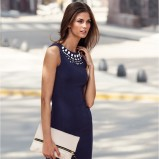 granatowa sukienka H&M  - wiosna/lato 2013